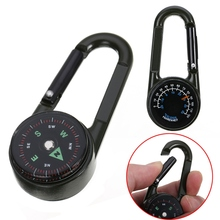 Multifunctional Mini 3in1 Carabiner Compass Thermometer Key Ring Snap Hook KeyChain Outdoor Camping Hiking Survival Travel Kit цены