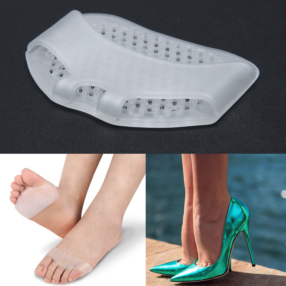 In Verarbeitung 1 Paar Silikon Heel Pads Weiche Vorfuß Halbe Elle Pads Invisible Hohe Ferse Schuhe Rutschfeste Halbe Hof Pads Fuß Pflege Werkzeuge Exquisite