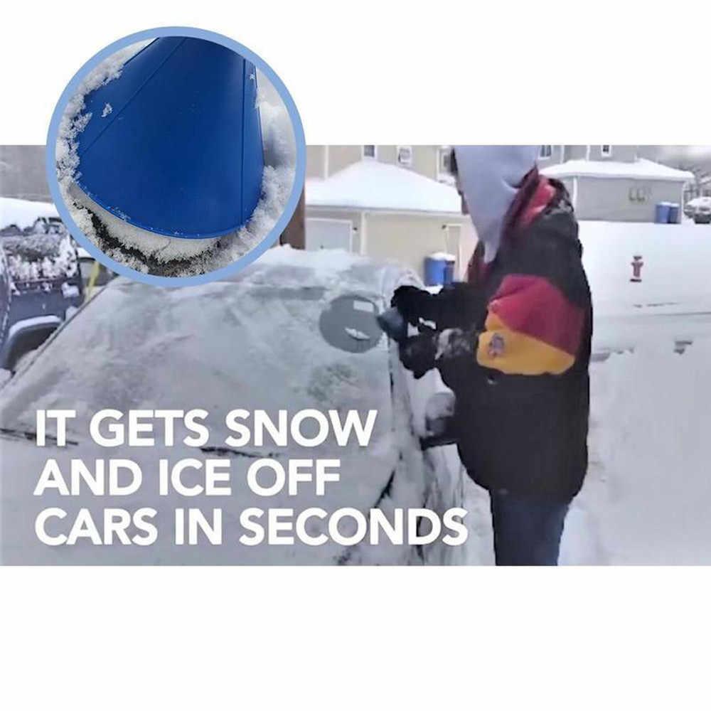 2019 New Car Raschiare Una Magia Rotonda A Forma di Cono Parabrezza Raschietto del Ghiaccio Inverno Neve Pala Strumento Magico Pennello di Pulizia strumento #30