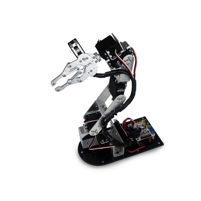Industrial Robot 625 Mechanical Arm 100% Alloy Manipulator 6 Degree Robot arm Rack with 6Pcs LD-1501MG Servos + 1 Alloy Gripper