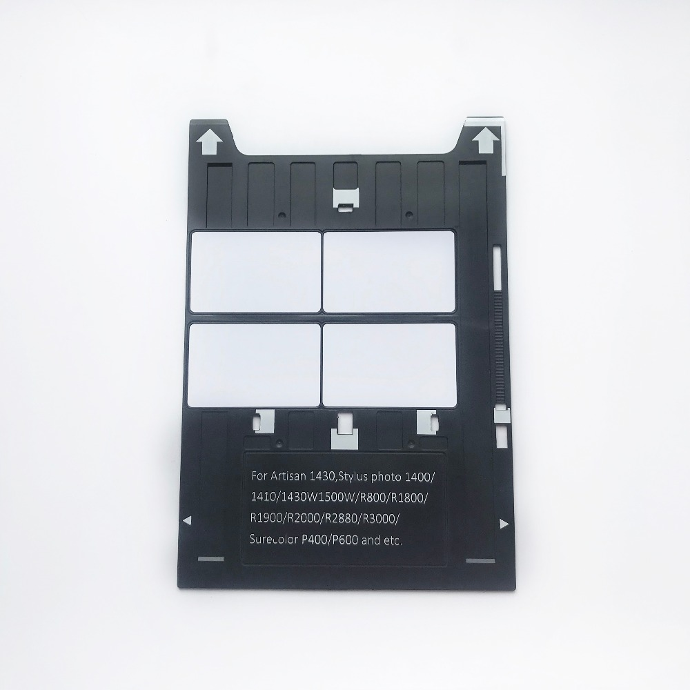 Inkjet PVC ID Card Tray for Epson Artisan 1430 Stylus Photo1400/1410/1430W/R800/R1800/R1900/P400 and etc printers+20pcs pvc card-in Business Cards from Office & School Supplies