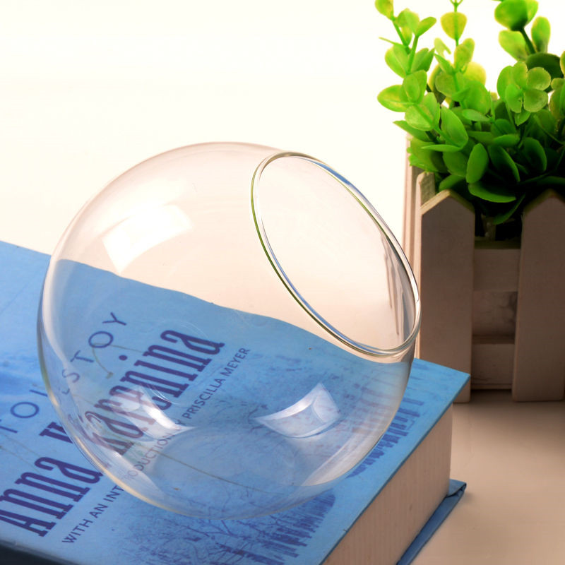 Flower Plant Clear Glass Vase Hanging Planter Terrarium Container Party Wedding Decor Bottle Pot Home Garden Ball Round Vase New