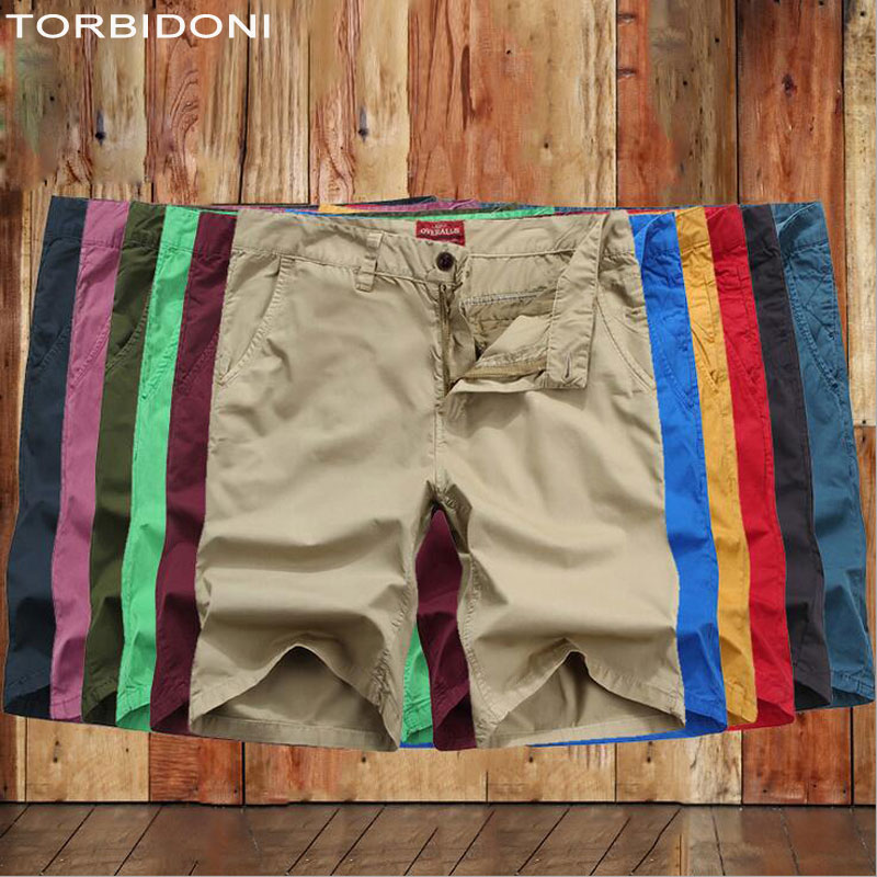 Men Casual Cargo Pant Shorts 2017 Fashion Summer Pantalones Straight Fit Bermuda Hombre Men Solid Short Pants Mens Trousers