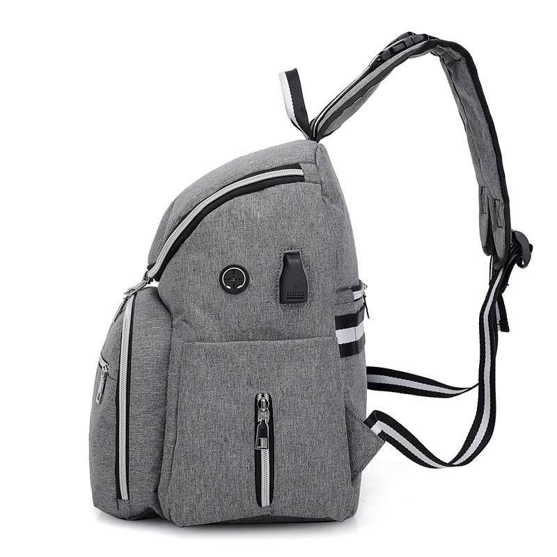 Baby Diaper Backpack mummy maternity nappy bag for stroller with USB  fashion baby care Mother Backpack BFR001