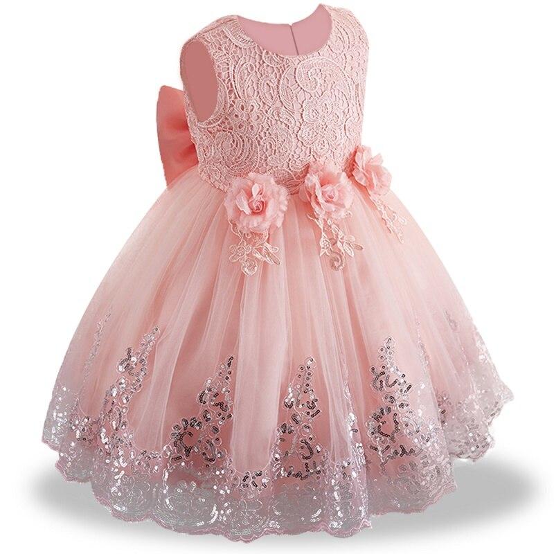 ee073563 2019 verano bebé niña vestido de encaje blanco vestidos de bautismo para  niñas 1 er año