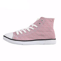 NOISYDESIGNS Cartoon Shark Puzzle Print High Top   Vulcanize     Shoes   Breathable Lace Up Classic Canvas   Shoes   Comfort Sneaekrs Ayakka