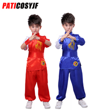 Traditional Kids Chinese Costume Taichi Uniform Martial Arts Suits Kungfu Uniform Wushu Clothes With Chinese Dragon Pattern keyconcept 2017 feiyue 2 headed shoes sneakers martial arts taichi kungfu temple of china popular and comfortable