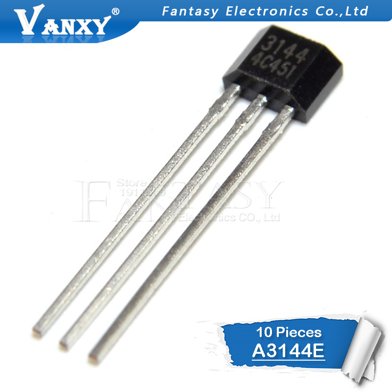 10PCS A3144E TO92 A3144 TO-92 3144 3144E Hall Effect Sensor New And Original IC
