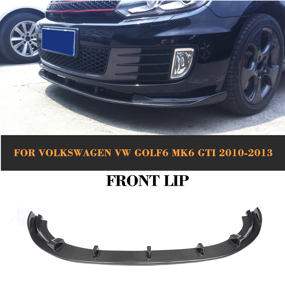 carbon fiber front bumper lip spoiler chin for volkswagen. Black Bedroom Furniture Sets. Home Design Ideas