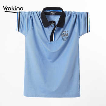 Summer New In 2019 Men's Casual High Quality Solid Color POLO Shirt Fashion Stretch Loose Men's Letter POLO Shirt 4XL 5XL - DISCOUNT ITEM  45% OFF All Category