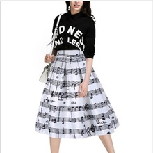 2017 Summer 19 Color Hot Women Fashion Casual Print Skirts Digital Printing Pleated Skirts Big Yards Cheap Manufacturers Selling