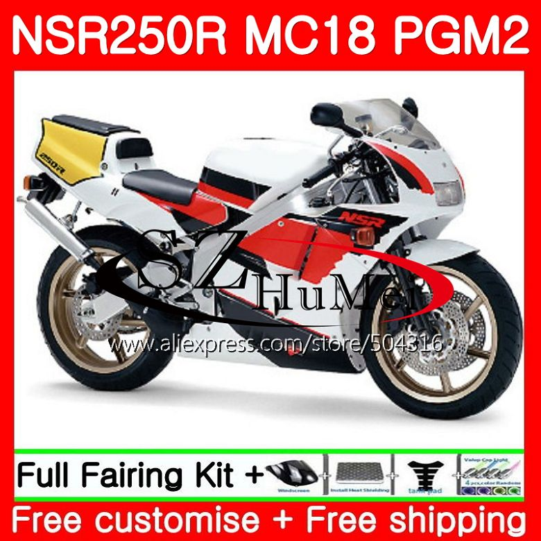 MC18 For HONDA PGM2 NSR250 <font><b>NSR</b></font> <font><b>250</b></font> R NSR250R 88 89 124NO.0 MC16 <font><b>NSR</b></font> 250R NS250 RR NSR250RR 1988 1989 88 89 Fairing Black white image