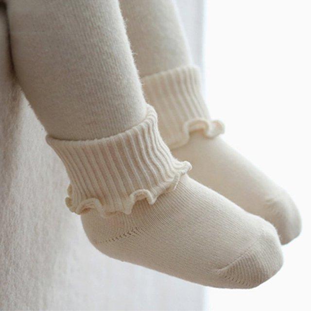 1 Pair Newborn Baby Girls Boys Kid Agaric Trim Cuffs Socks Warm Soft Boots Socks