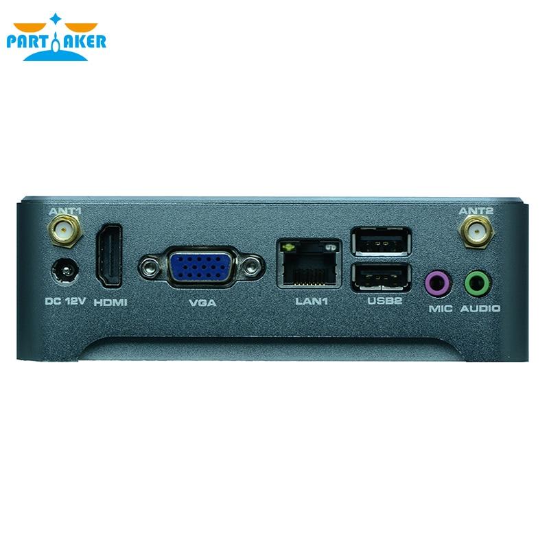 Mini PC Windows 10 Fanless Barebone Mini Computer 2 Lan Nano Industrial Mini PC VESA N1