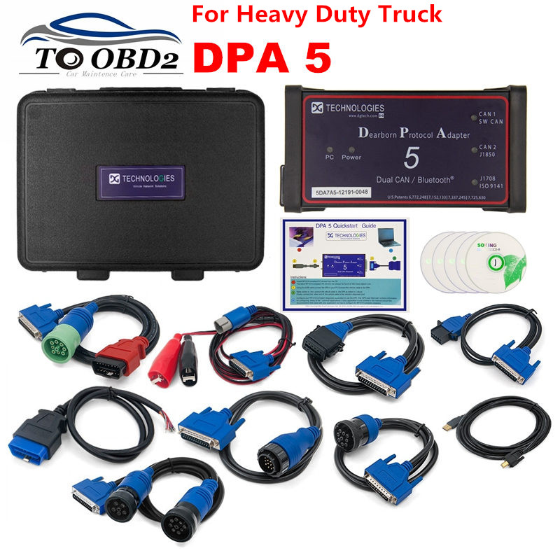 High Quality DPA5 Dearborn Protocol Adapter 5 Diesel Heavy-Duty Truck Diagnostic Tool DPA 5 Same With Nexiq USB Link 2 Scanner