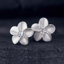 JEXXI Lady Jewelry 925 Sterling Silver Cubic Zircon Stone Sweet Girl Stylish Stud Earring Luxury Crystal Jewelry Wholesale