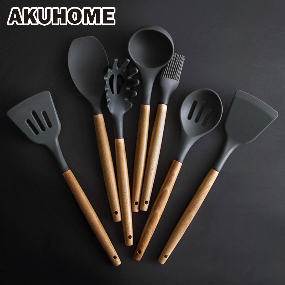 Силиконовая лопатка термостойкая ложка для супа антипригарная специальная Лопата для приготовления пищи Кухонные инструменты
