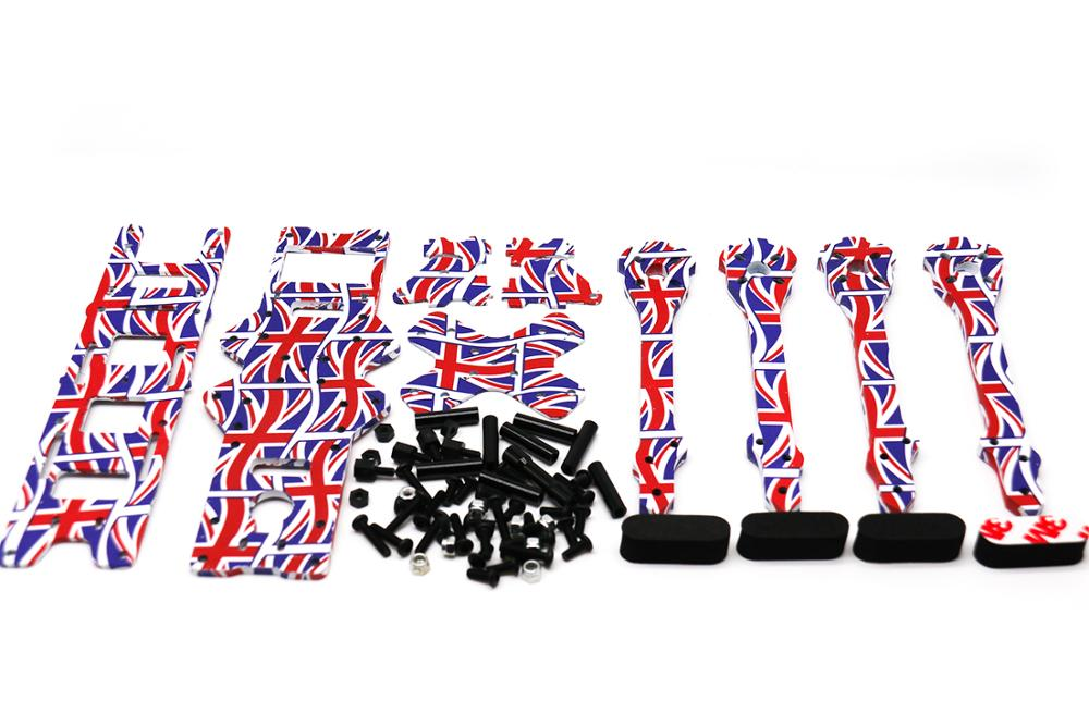 Image 5 - TCMM 5 Inch Drone Frame X220HV The Union Jack Printed Frame Kit Wheelbase 220mm Carbon Fiber For FPV Racing Drone-in Parts & Accessories from Toys & Hobbies