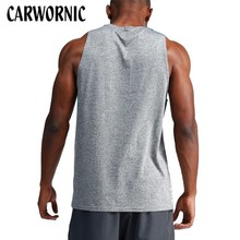 CARWORNIC Summer Causal Vest Men Tank Tops Sleeveless Cotton Singlets Fitness Workout Bodybuilding Vests