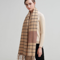 SUMEIKE Designer Brand 2018 Fashion Plaid Scarf Women Winter Scarves Female Warm Long Shawl Wraps