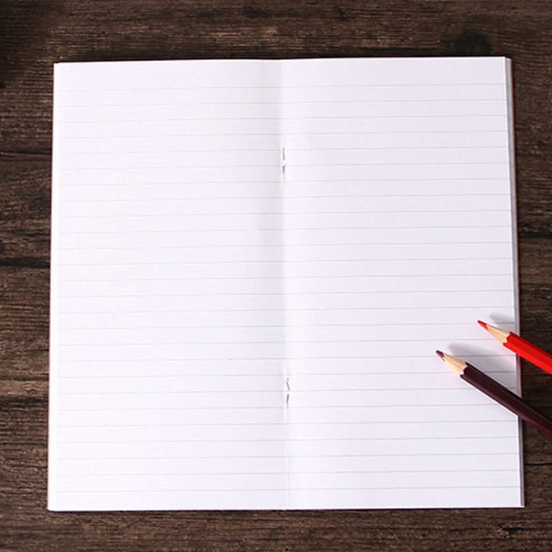 10pcs/lot  Vintage Traveler's Notebook Blank Kraft  Paper Book Diary Notebook 110mmx210mm