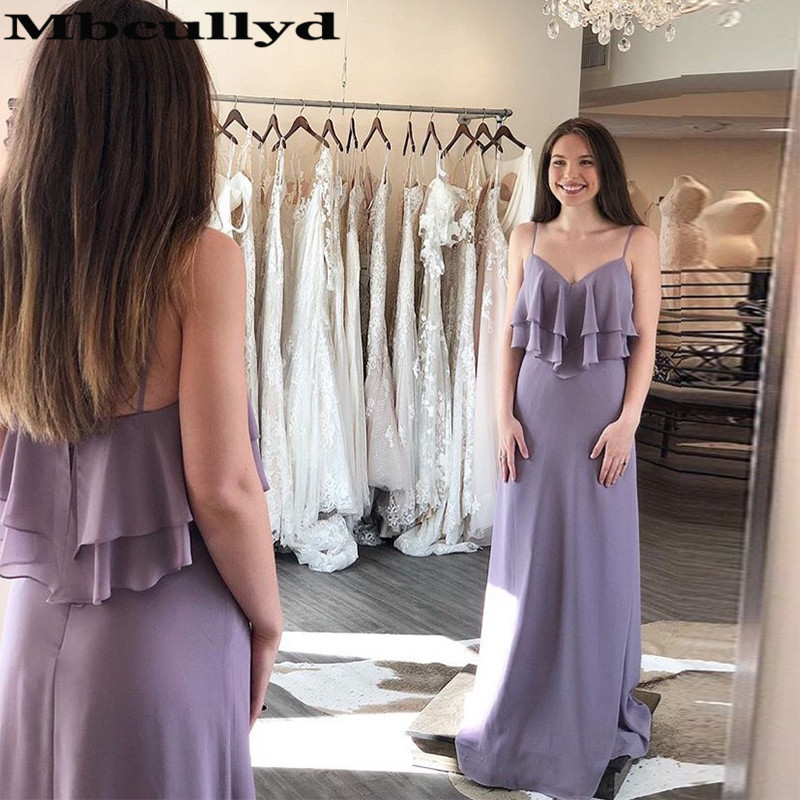 Mbcullyd Chiffon Long   Bridesmaid     Dresses   For Women 2019 Wholesale Price Cheap Maid Of Honor   Dress   Formal Gilrs Party Gown