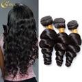 7A Unprocessed Brazilian Loose Wave Virgin Hair 3 Bundles Hair Extensions Soft And Full 100g Brazilain Virgin Human Hair Weave
