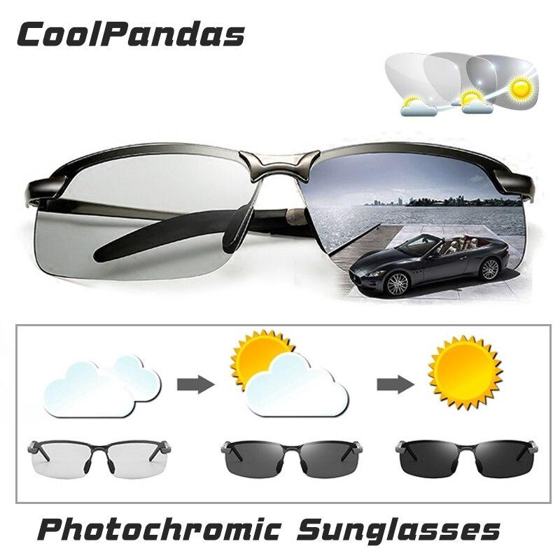 e8ce6275511b9 2018 Homens de Condução óculos de Sol Fotocromáticas Polarizados  Descoloração óculos para a Pesca De Viagem