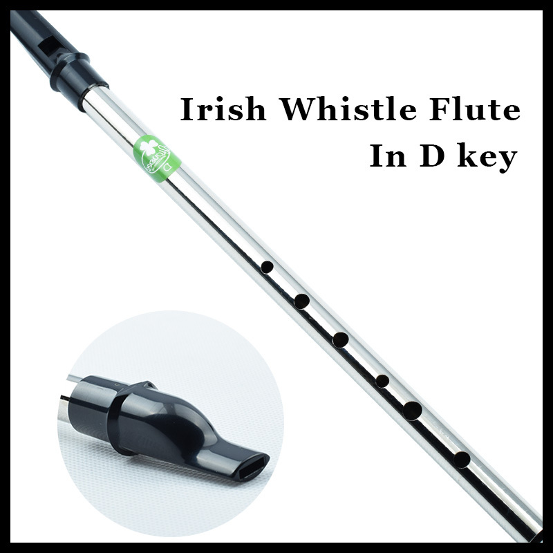 Irish Whistle Flute Ireland Alat Muzik Profesional Pennywhistle Tin Whistle dan Flauta Metal Mini Tinwhistle D Key Hot