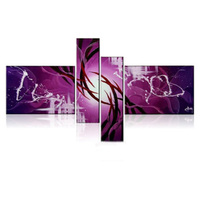 Hot Sale 100% Hand Painted Black White or Purple Modern Abstract Wall Art Oil Painting for Hotel or Home Decoration Picture