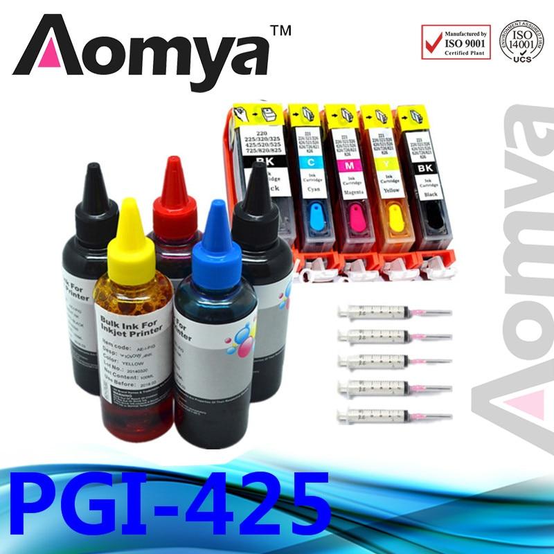 Prix pour PGI-425/CLI-426 PGI425 Recharge D'encre Kit Complet Cartouche D'encre Pour Canon MG5240 MG5140 IP4840 IX6540 MG5340 MX894 MX884 IX6540 imprimante
