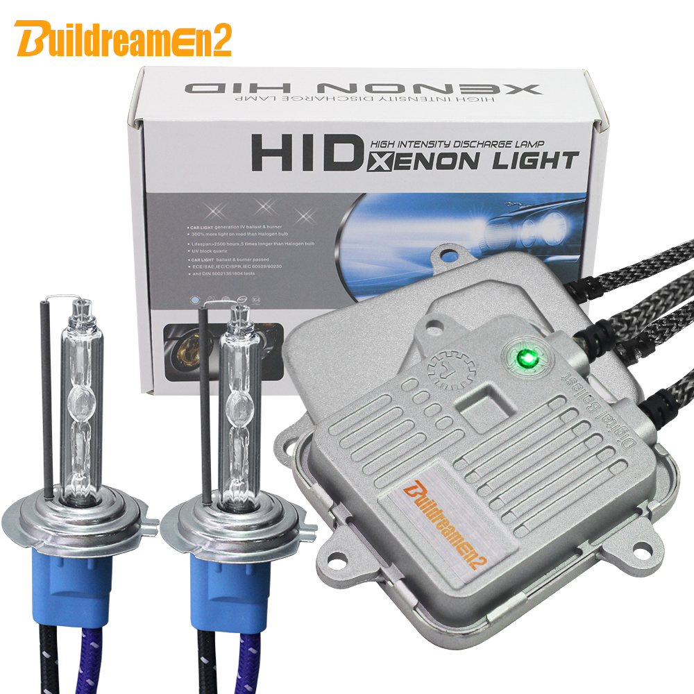 цена на Buildreamen2 55W 10000LM High Bright AC Xenon Kit Ballast Lamp Car Headlight Fog Light H1 H3 H7 H8 H9 H11 9005 9006 5000K White
