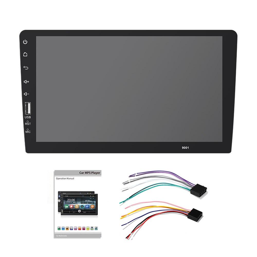 9''10. 1 pollici car multimedia player 1 din car radio Bluetooth USB della macchina fotografica di inverso MP5 Lettore Autoradio NESSUN android - 6