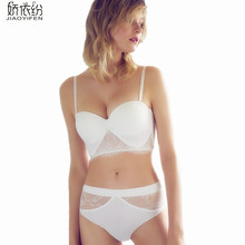 Sexy Lace Noble Underwear Set Sexy Seamless Comfortable Lace Hollow Bra sets BC Cup Lingerie Sets Lace Push Up Bra JYF