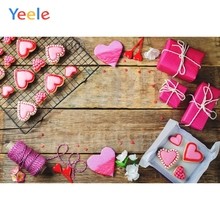 Yeele LOVE Heart Gifts Wooden Board Texture Planks Goods Show Photography Backgrounds Photographic Backdrops For Photo Studio yeele rose flower simple wooden board texture planks goods show photography backgrounds photographic backdrops for photo studio
