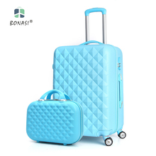 2017 New Diamond Traces PC Journey Trolley 20″/24″ Baggage Suitcase Set with 360 diploma common wheels 5 colours