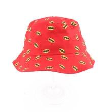 Chapéu com estampa de desenhos animados, chapéu de balde para crianças, meninos e meninas, chapéu bob 2-5t, imperdível, 2019 venda de venda