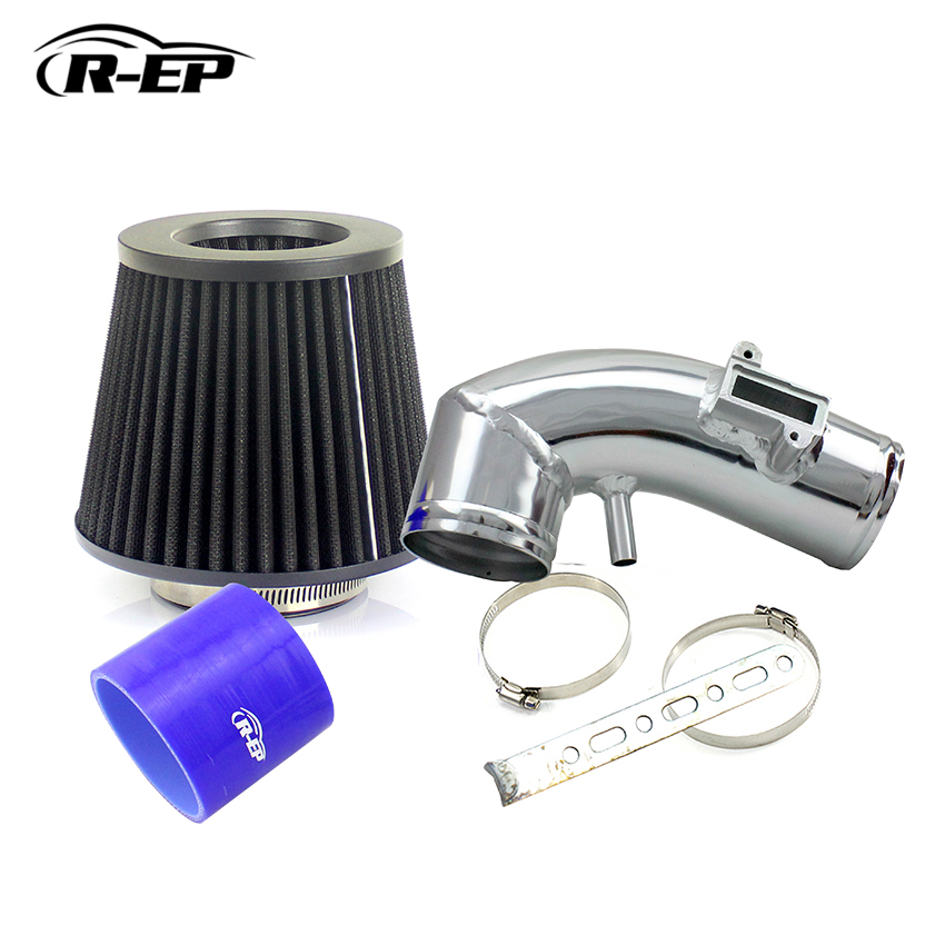 R-EP Performance Cold Air Intake Hose For Honad Fit 1.3L-1.5L Civic 1.5L 2008-2012 with Air Filter cnspeed air intake pipe kit for ford mustang 1989 1993 5 0l v8 cold air intake induction kits with 3 5 air filter yc100689