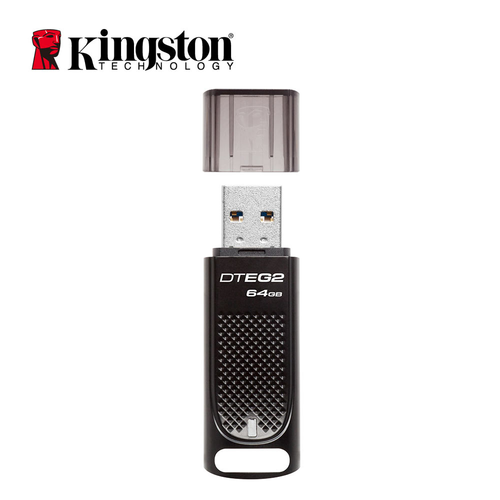 Kingston USB 64gb Pen Drive DTEG2 Cle Usb Flash Drive Metal Business Company Car usb-key USB 3.1 Memory Stick pendrive 64GB kingston dtig4 64gb usb 3 0 flash drive purple white 64gb