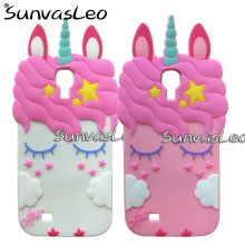 For Samsung Galaxy S4 SIV i9500 3D Pretty Unicorn Soft Silicone Case Cute Cartoon Phone Back Cover Skin Shell Fundas Coque Capa