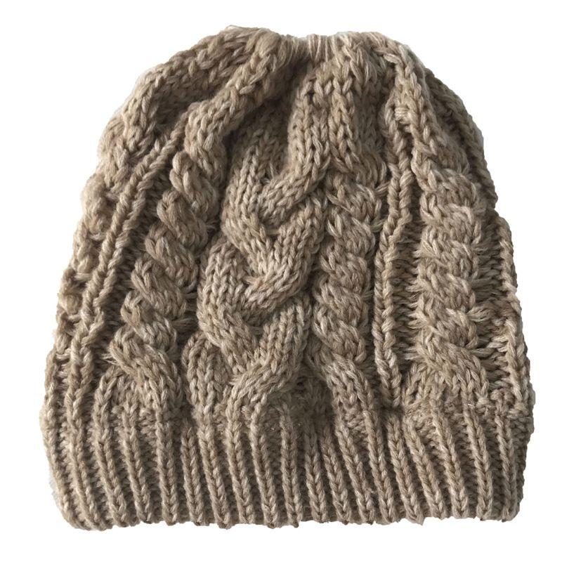 Women's Knitted Hat Scarf Caps Neck Warmer Winter Hats For Men Women   Skullies     Beanies   Warm Fleece Cap
