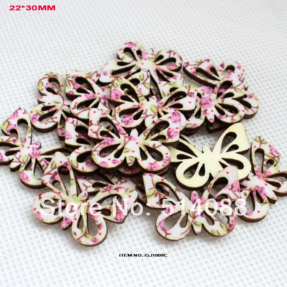 120pcslot bulk textile topper wooden back butterfly shape hair clips photo frame