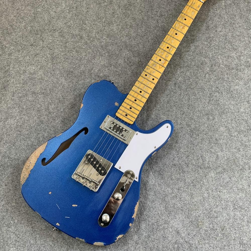 Artefact Vintage Avril Ramona Lavigne bleu tele f hole style guitare électrique, cadeaux à des amis. Livraison gratuite.