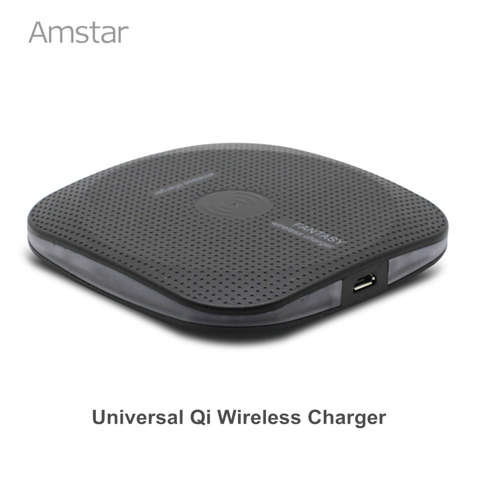 Amstar Qi Wireless Charger Untuk Samsung Galaxy S8 Plus S7 Note 8 Ponsel Qi Charger Untuk iPhone X 8 8 Plus Wireless Pengisian