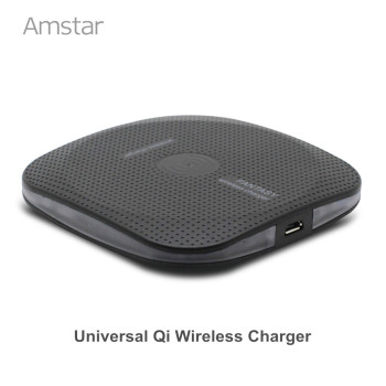 Amstar Qi Wireless Charger For Samsung Galaxy S8 Plus S7 Note 8 Mobile Phone Qi Charger For iPhone X 8 8 Plus Wireless Charging