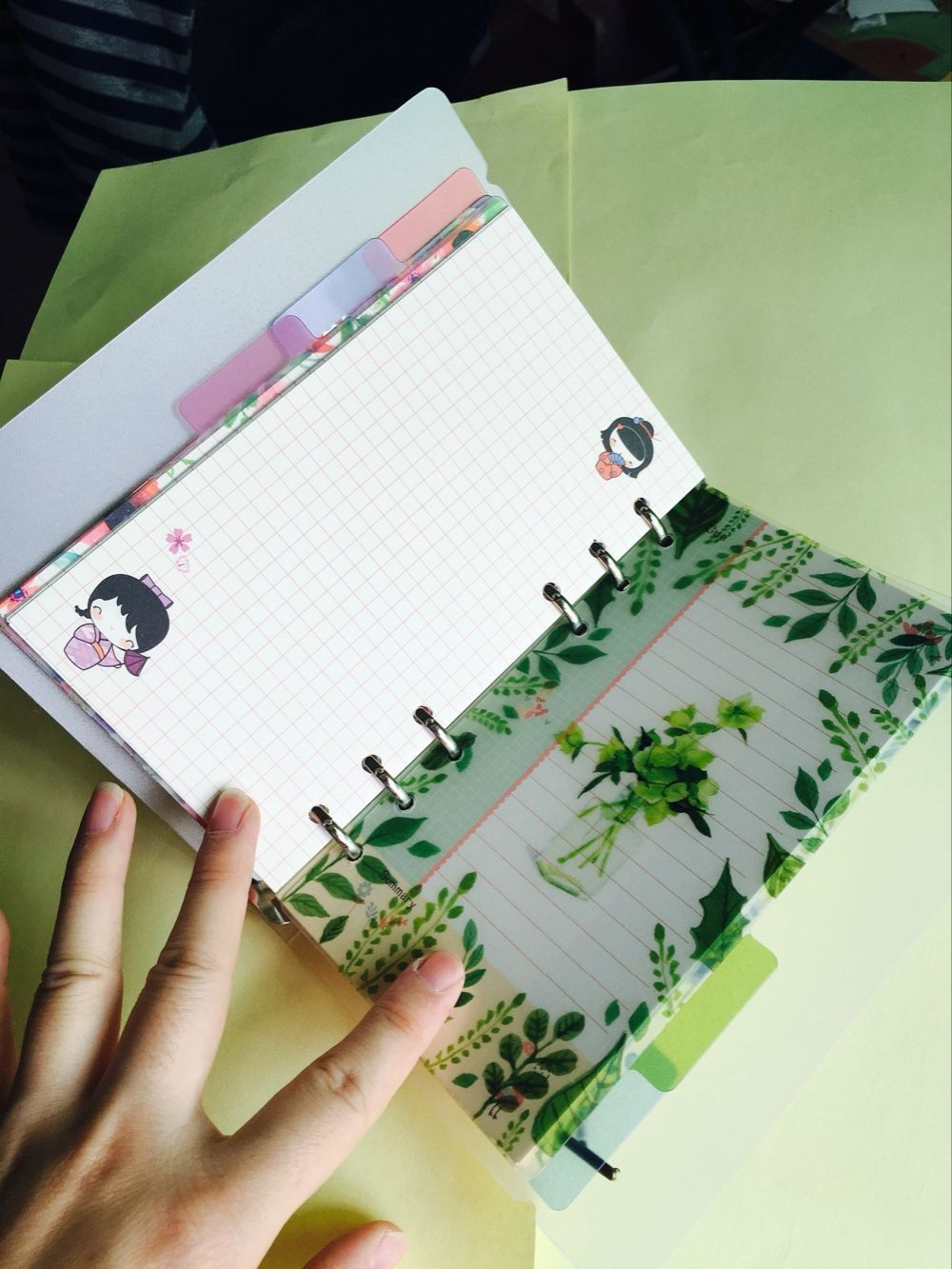 2018 A5/A6 6 holes Colored Notebook's Index Page 5pcs/set Spiral Book Category Page Filofax Planner Accessories Islamabad