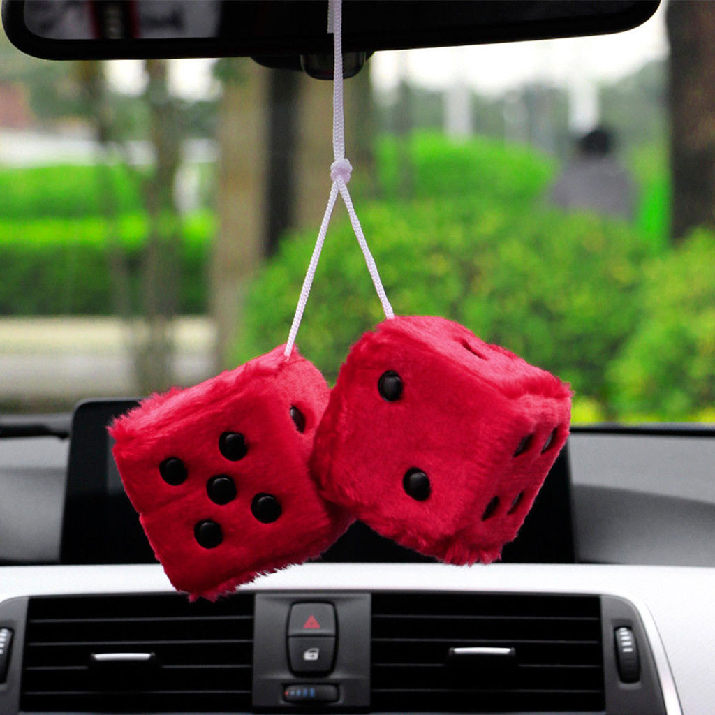 Франшиза, Автомобильные украшения, украшение, плюшевые кости, красочное зеркало, подвеска для автомобиля, подвесная подвеска, аксессуары для украшения дома - Название цвета: Red