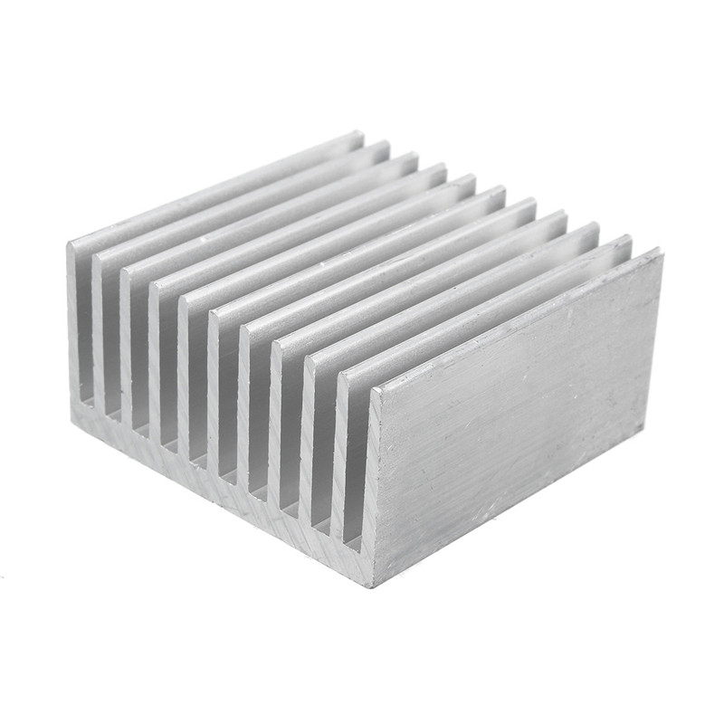 Cooling Accessories 40 x 40 x 20mm Pure Aluminum Heat Sink IC Heatsink Cooling Fin Radiator For CPU LED Power Active Component 10pcs lot ultra small gvoove pure copper pure for ram memory ic chip heat sink 7 7 4mm electronic radiator 3m468mp thermal