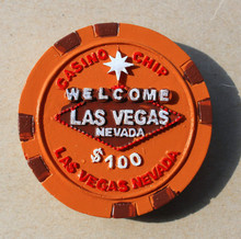 Las Vegas chip travel resin refrigerator stickers las vegas