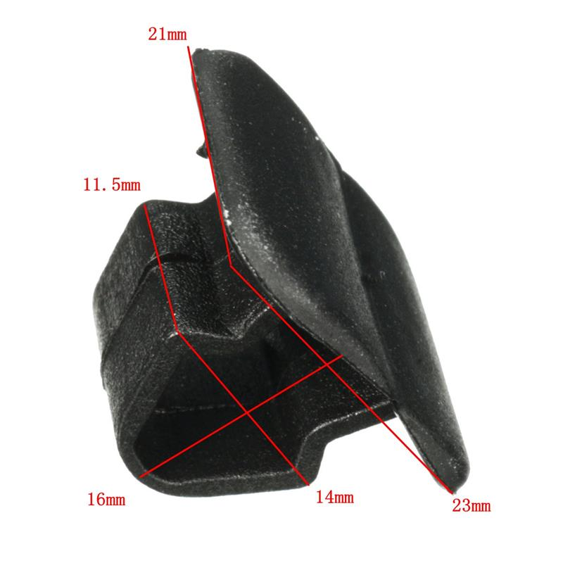 20Pcs Car Bonnet Insulation Pad Holder Clip Auto Hood Plastic Buckle Fastener Retainer 1251866 1H5863849A01C Black Fits 15mm Hole